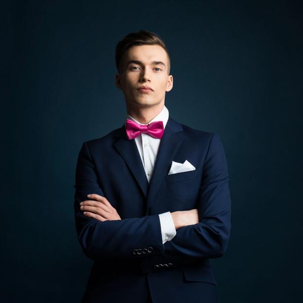 muszka ślubna fuksja Brunon muszynski