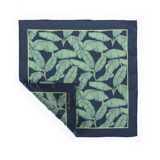 poszetka zielona w liście