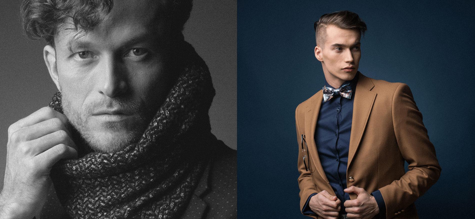 Moda męska muszka i komin Brunon Muszyński