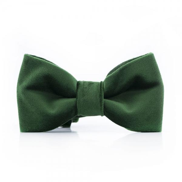 Muszka-męska-zielona-z-weluru do koszuli sklep