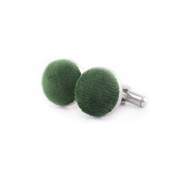 Spinki do mankietów koszuli męskiej-welurowe-zielone sklep