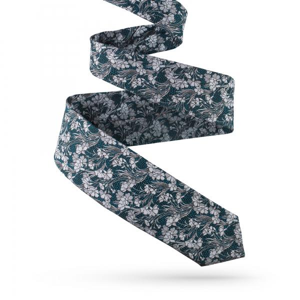 Krawat jedwabny we wzory
