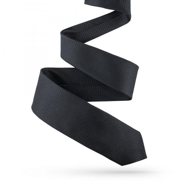 Krawat jedwabny czarny