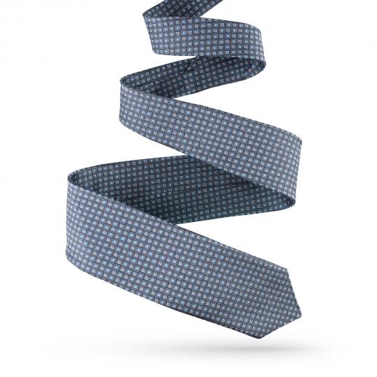 Krawat jedwabny niebieski krawaty sklep