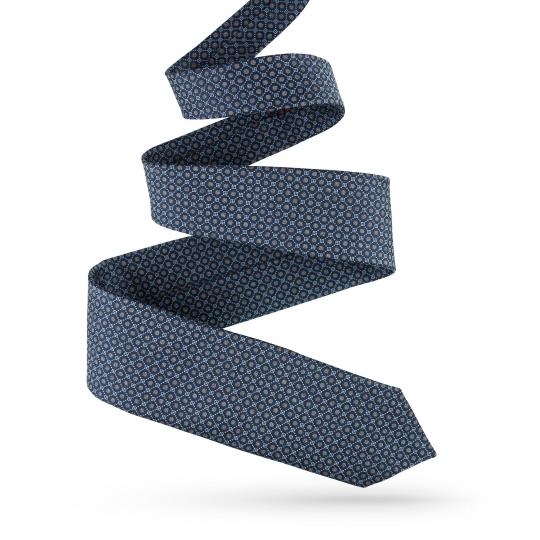 Krawat jedwabny granatowy